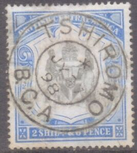 """BRITISH CENTRAL AFRICA  POSTMARK  """"TSHIROMO  B.C.A.""""  1898 - cleaned Fiscal??"""