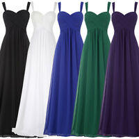 Chic Formal Evening Cocktail Party Gown Womens Wedding Bridesmaid Maxi Dresses