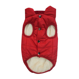 Reflective Strips Waterproof Dog Jacket Warm Soft Cotton Lining Dog Vest Harness