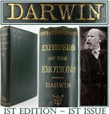 1872*CHARLES DARWIN*EXPRESSION OF THE EMOTIONS*1st EDITION*FIRST ISSUE*EVOLUTION