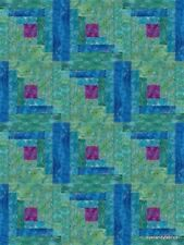 12 Block Batik Log Cabin Quilt Kit~Pre-Cut  PACIFIC BREEZE   by eyecandyfabrics