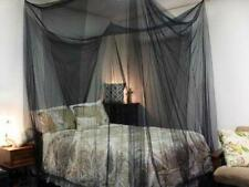 Black Mosquito Net Canopy Travel Insect Protect Single Entry Bedding Netting Us