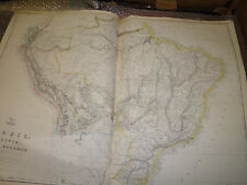 Brazil,Bolivia,Peru,Ecuad or map Dispatch Atlas circa 1860- Jw LowryFramed40more