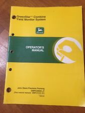 John Deere Greenstar Combine Yield Monitor System Operator's Manual