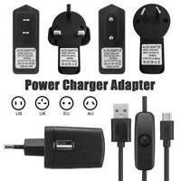 2.5A 5V Micro Adapter Power USB Charger for Raspberry Pi 3 UK/EU/US/AU Plug