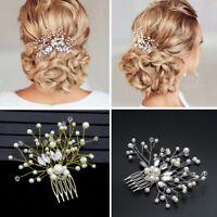 Bride Hair Jewelry  Pearl Hair Pin  Rhinestone Tiara  Bridal Clips Hair Combs
