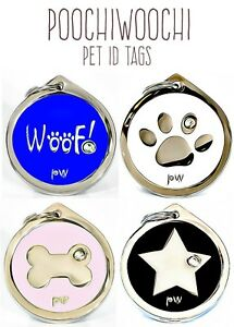 Pet DOG ID Tags Collar Name Identity Discs FREE UK DELIVERY ENGRAVING AVAILABLE
