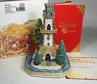 David Winter Cottages:  The Dark Tower, The Winter Chronicles, w/ booklet & card