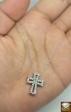 Diamond Cross pendant Necklace in Pure 10 K White Gold on New Year Special !!!