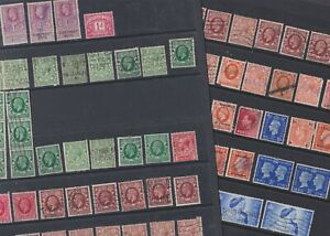 Great Britain 1912-49 Used King George V VI definitives contract note Liverpool