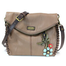 Chala Charming Crossbody Purse with Teal Flower and Dragonfly -(8 Color Options)
