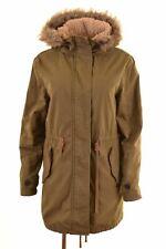 JACK WILLS Womens Parka Jacket UK 10 Small Khaki Cotton  IT14