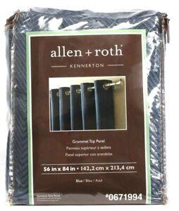 "1 Allen Roth Kennerton Grommet Top One Panel 0671994 Blue 56"" X 84"""