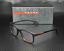 PRADA LINEA ROSSA PS01LV 1BO1O1 Lifestyle Black Demo Lens 52 mm Men's Eyeglasses