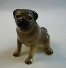 Hagen Renaker miniature made in America Pug Mama seated dog