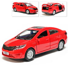 Kia Rio Metal Model Diecast Car Scale, Collectible Toy Cars, Red, 1/36