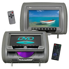 """Tview T939Dvplgr 9"""" Headrest Monitor Dvd Player Sold In Pairs Gray"""
