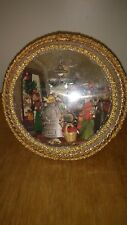 "Vintage Large Handmade Decorated Globe of a  ""OLD STORE with People"""