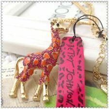 Necklace & free gift $7.99 Adorable~ Betsey johnson Pink Rhinestone Giraffe