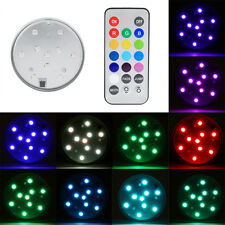 10 LEDs Remote Control Aquarium Diving Electronic Candle Lighting Fish Tank Lamp