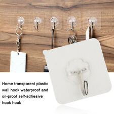 20X Strong Self Adhesive Hooks Kitchen Bathroom Stick On Wall Door Hanger US