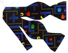 Arcade Video Game Bow tie / Colorful Space Invaders on Black / Self-tie Bow tie