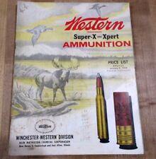 1958 Western Ammunition Price List super -X & Xpert >