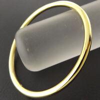 Bangle Bracelet Real 18k Yellow G/F Gold Solid Girls Kids Size Golf Cuff Design