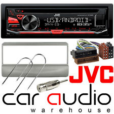 Ford Transit 96-05 JVC Car Stereo CD MP3 Radio USB Aux Player Silver Finish Kit