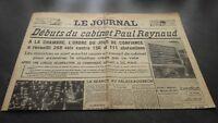 """LE JOURNAL"" EDITION DE 5 HEURES ANCIEN N°17321  SAMEDI 23 MARS 1940 ABE"