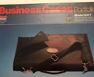 Vtg American Tourister Nylon Laptop Briefcase Messenger Bag Shoulder Strap