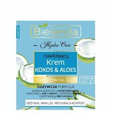 Bielenda COCONUT & ALOE Moisturising Day Night Cream Dry Dehydrated Skin 50ml