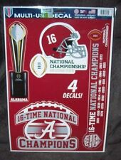 ALABAMA 16 TIME CHAMPIONS WINCRAFT 12X17 MULTI-USE DECAL SHEET