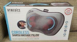Shiatsu Massage Pillow with Soothing Heat By HoMedics Brand NEW / Open Box