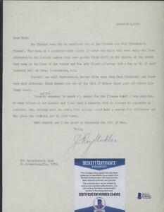 E04962 J. Roy Stockton Signed Letter AUTO Autograph Beckett BAS COA