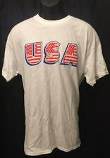 USA TEE SHIRT STARS 7 STRIPES NEW W TAG SIZE L WHITE RED BLUE