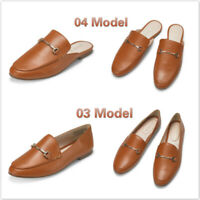 Women's Penny Loafers & Mule Flats Backless Slipper Slip On Comfort Office Shoes