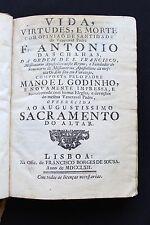 1762- Life of Franciscan ANTONIO DE CHAGAS including in Bahia Brazil