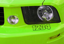 Custom 4 digit Build Number Vinyl Car Decal Sticker Saleen Style Replica Mustang