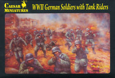Caesar Miniatures 1/72 077 WWII German Soldiers w/Tank Riders x 10 Boxes (LOTS)