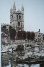 PRINT 10 X 7  NEWBURY PARISH CHURCH FROM THE RIVER c1930