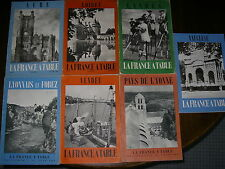LOT DE 7 LA FRANCE A TABLE GASTRONOMIE VIN FOLKLORE REGIONALISME RECETTES