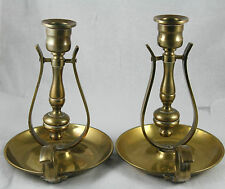 Vtg Brass Wall Mount or Table Top Candle Holders Swivel Nautical Gimbal