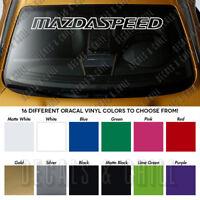 "MAZDASPEED Windshield Banner Long Lasting Vinyl Premium Decal Sticker 40"""