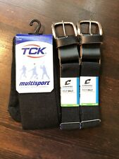 Lot Of Youth T-ball Belts And Socks Black