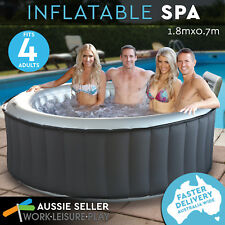 Air Time Inflatable PVC Spa 4 Adults 800l Bath Massage Portable Outdoor Fun