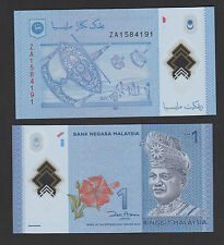 Malaysia 1 Ringgit Polymer (2011) P51r # ZA Replacement - UNC
