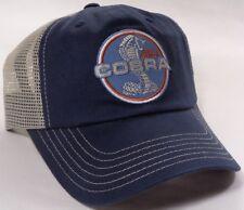 Hat Cap Ford Cobra Mustang Established 1964 Tan Mesh Blue CF