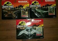 Jurassic Park 1993 Series 1 Kenner Velociraptor Dilophosaurus Pteranodon New MIB