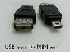 Maplin USB A to Mini B Adaptor Female to Male Computer Camera Hard Drives